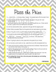 free printable bridal shower left right game pass the gift game baby shower diabetesmang info