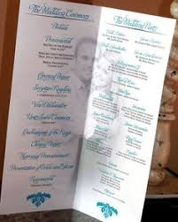 wedding programs wording sles creative wedding programs wedding programs program design and