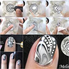 how to make amazing water marble nail art diy tutorial water