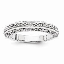 filigree wedding band filigree wedding band ring in 14k white gold