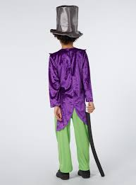 willy wonka halloween costumes fancy dress multi coloured willy wonka costume tu clothing