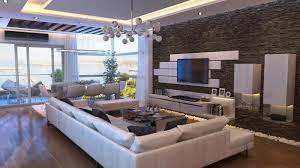 marble wall modern apartment living room staradeal com