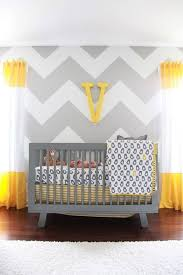 Yellow Gray Nursery Decor Baby Nursery Decor Zigzag Wall Stripe Alphabet Sign Decoration