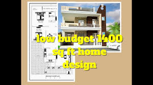 low budget 1400 sq ft home design elevation design floor plan
