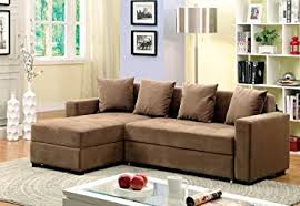 Sectional Sofa With Storage And Sleeper Furniture Of America Laurence Sectional Sofa Sleeper