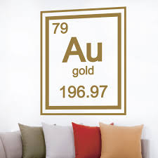 gold periodic table element walltat touch of modern