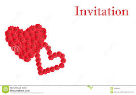 Invitation Card Design White Invitation Card Design With Red Cutout Gerbera Flower Hear