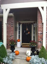 commona my house halloween jack o lantern wreath and front door decor