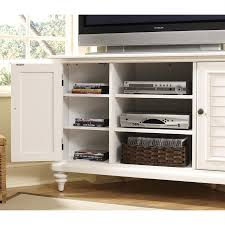 White Tv Cabinet With Doors Shop Home Styles Bermuda White Tv Cabinet At Lowes