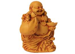 carved wooden laughing buddha showpiece and figurines online