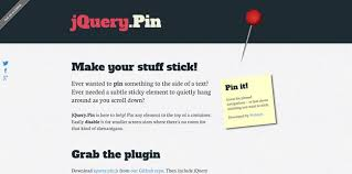 Jquery Plugins For Creating Sticky Elements And Fixed Headers