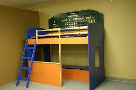 Baseball Bunk Beds Baseball Loft Bed With Dugout Custom By Chris Davis