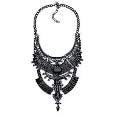 black statement choker necklace images Stuffwholesale chunky turkish bib statement necklace jpg