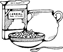 breakfast clipart milk cereal pencil and in color breakfast