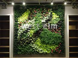 gsky green wall brings life to west elm u0027s new montreal location