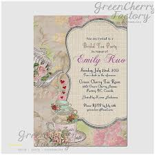 bridal tea party invitation wording baby shower invitation awesome baby shower high tea invitation