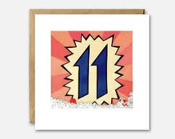 11th birthday card etsy