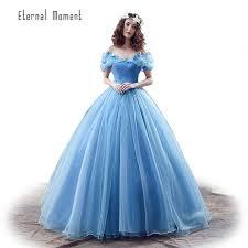 robe de mariã e bleue en stock deluxe adulte cendrillon robes de mariée bleu
