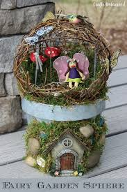make your own fairy garden sphere crafts unleashed