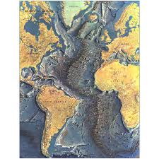 Ocean Depth Map 1968 Atlantic Ocean Floor Map National Geographic Store