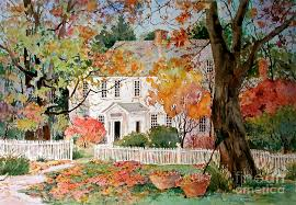 Vermont House Vermont House In Autumn Painting By Sherri Crabtree