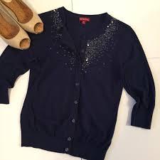 merona sweater 69 merona sweaters merona navy embellished sequin cardigan