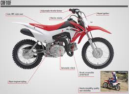 motocross bikes honda 2018 honda crf110f review of specs features crf dirt u0026 trail