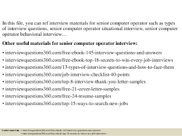 Resume For Computer Operator Job by Top 10 Senior Computer Operator Interview Questions And Answers