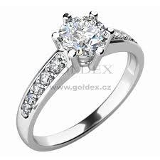 zasnubni prsteny zásnubní prsten s diamanty zp 10747d goldex cz