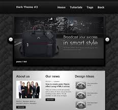 css tutorial layout template a dark and clean html css website layout