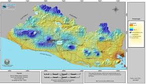 Temperature Map Usa by Map Of El Salvador Central America
