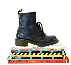womens boots uk size 2 amazing 90s blue black dr martens boots size 7 7 1 2 high