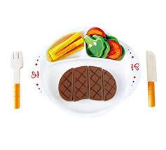 jeux de cuisine frite hape e3141 jeux d imitation en bois steak frites amazon fr