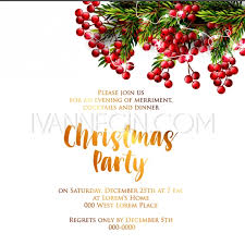 Happy New Year Invitation Merry Christmas Party Invitation And Happy New Year Party