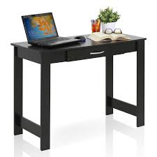 Student Writing Desk by Furinno Jaya Writing Desk With Drawer 15108bkw Walmart Com