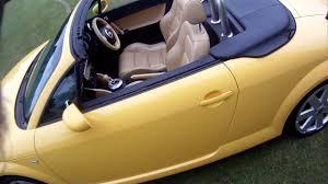 audi tt 3 2 roadster dsg imola yellow for sale walkaround youtube