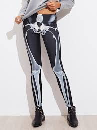 Halloween Skeleton Bodysuit Halloween Skeleton Leggings Shein Sheinside