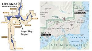 lake mead map hamblin cleopatra volcano lake mead national recreation area
