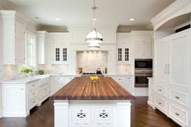 wood top kitchen island kitchen traditional with apron sink