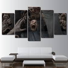 5 pieces canvas paintings the walking dead picture print poster tv