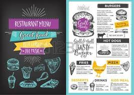 flyer menu template food truck festival menu food brochure food template