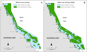 Great Barrier Reef Map Interactions Between A Trawl Fishery And Spatial Closures For