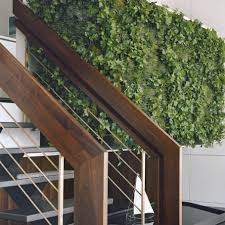 Duplex Stairs Design Pulltab Design Wooden Railing Staircase And Green Wall With Water