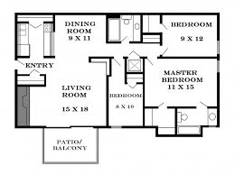 architectural plan architectural plan for one bedroom flat house floor plans