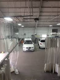 Industrial Curtain Wall Part 1 Industrial Curtain Installation And Repair For Auto Shop