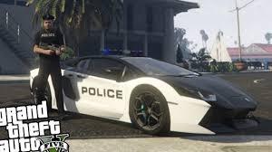 police lamborghini gta 5 pc police mod police lamborghini aventador patrol gta v