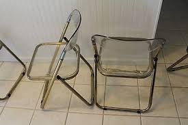 Lucite Folding Chairs Set Of 4 Vintage Lucite Gold Mid Century Modern Folding Chairs