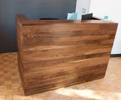 Reception Desk Sale by Solid Walnut Reception Desk Bay Area Custom Furniture