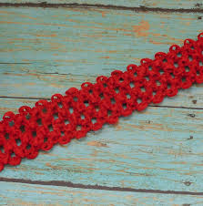 crochet elastic ribbon elastic waffle crochet ribbon 2 yards x 1 5 inches for