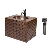 Copper Bathroom Vanity by Shop Premier Copper Products Oil Rubbed Bronze Integrated Single
